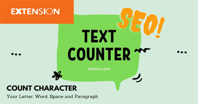Online Text counter extension